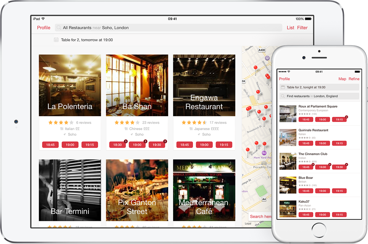 Mobile Apps Uk Opentable